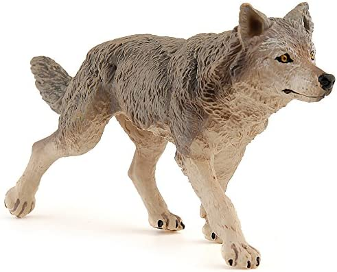 New Papo 53012 Grey Wolf Figure Free Toy Play High Quality Durable Beautiful