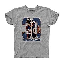 Terrell Davis Game B Denver Throwbacks Kids T-Shirt by 500 LEVEL
