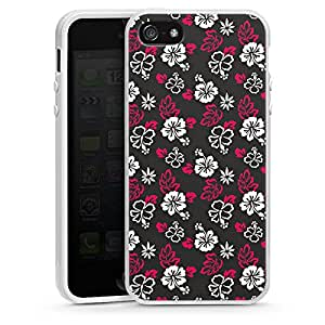 Apple iPhone 5 Case Shell Cover Silicone Case white - Day At The Beach Black