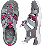 KEEN Women's Newport Evo H2 Hiking Shoe, Neutral Gray/Raspberry, 7 M US