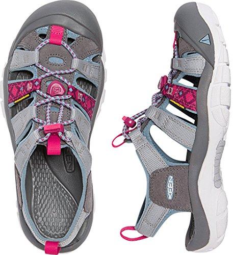 KEEN Women's Newport Evo H2 Hiking Shoe, Neutral Gray/Raspberry, 7 M US by KEEN