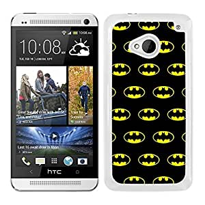 Funda carcasa para HTC M7 estampado Batman superhéroe borde blanco