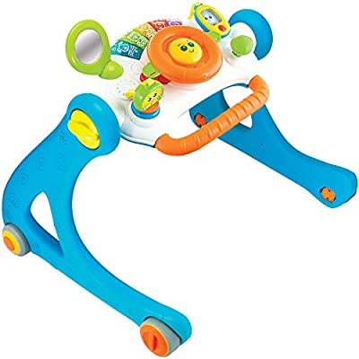 NEW! Winfun 5-in-1 Driver Grow-with-Me, Sit-to-Stand Lights and Sounds Baby Play Gym Activity Learning Walker