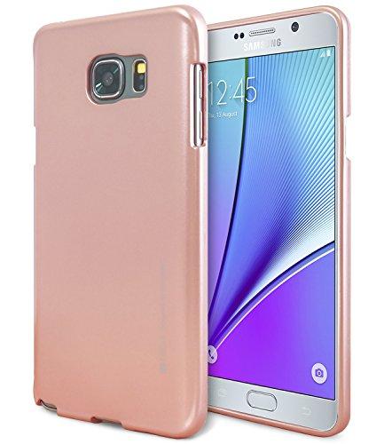 Galaxy Note 5 Case, [Ultra Slim Fit] Goospery i-Jelly Case  Premium TPU Case Cover   - Metallic Rose Gold