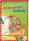 Mein dicker Kindergarten-Malblock: Von Punkt zu Punkt