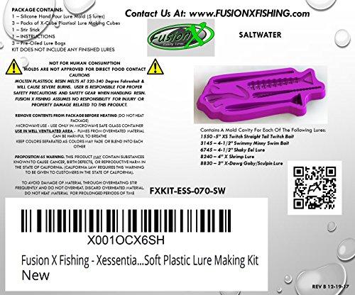[해외구매대행 ] Fusion X Fishing - Xessential Saltwater Fishing Soft Plastic Lure  Making Kit