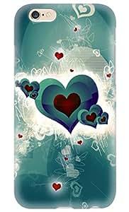 "Simply Case Designs Vector Green Hearts Design Hard Case for iphone 6 4.7"""
