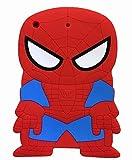 iPad Mini Case?Phenix-Color 3D Cute Soft Silicone [Drop Proof,Shock Proof,Anti Slip] Cartoon Gel Rubber Back Cover Case for iPad Mini 1 2 3 (Spider-Man)