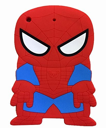 iPad Mini Case,Phenix-Color 3D Cute Soft Silicone [Drop Proof,Shock Proof,Anti Slip] Cartoon Gel Rubber Back Cover Case for iPad Mini 1 2 3 (Spider-Man)
