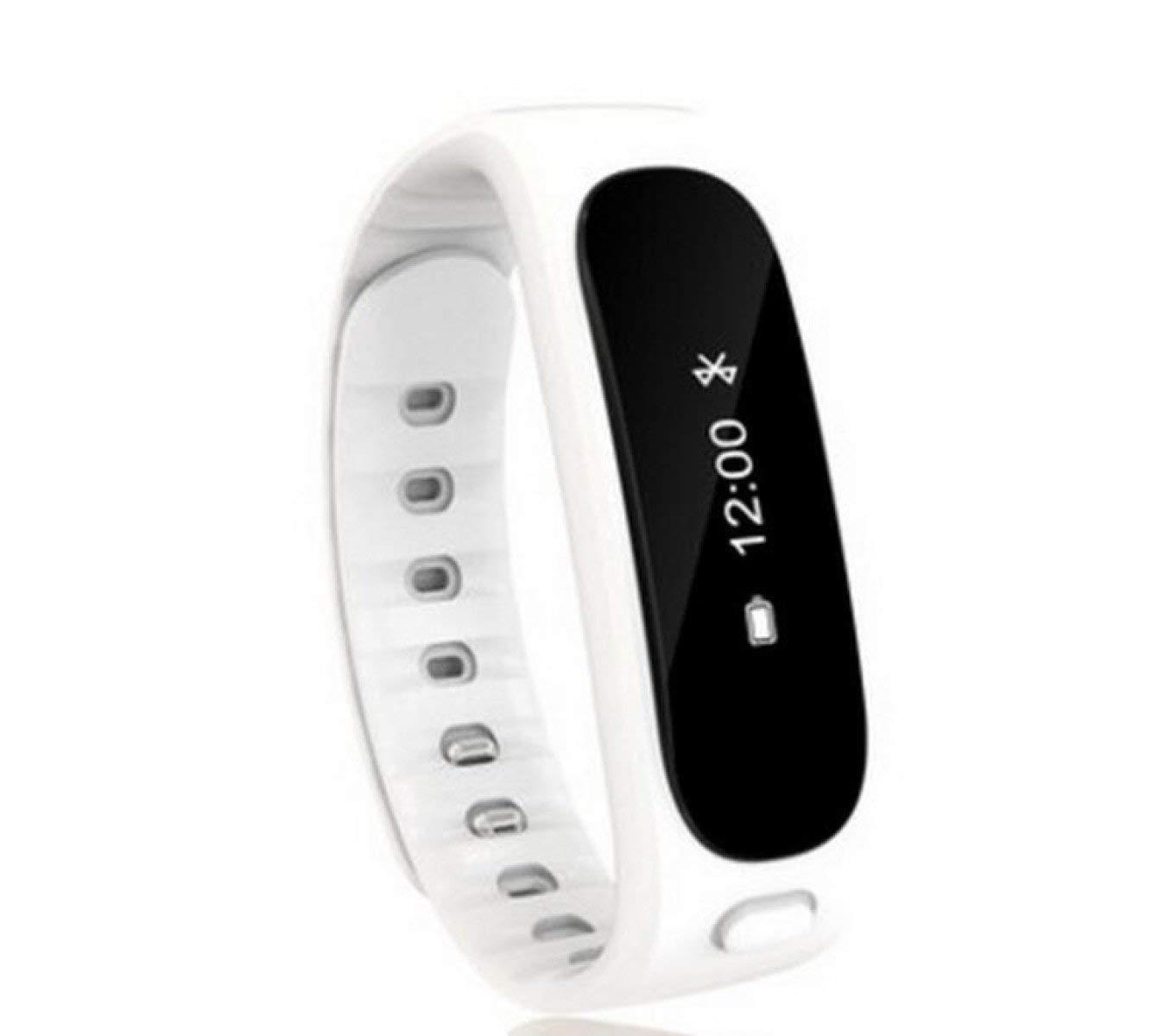 Weekendy Blautooth Smart Armband Schrittzähler Schlaf Kalorien Schlaf Schrittzähler Monitor Sportuhr Fernbedienung Kamera Musiksteuerung Wasserdicht, Weiß-OneGröße c9b446