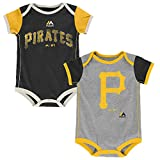 : Pittsburgh Pirates Vintage Baby/Infant Go Team 2 Piece Creeper Set 24 Months