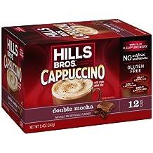Hills Bros Double Mocha Cappuccino, Single Serve Cups, 12 Count