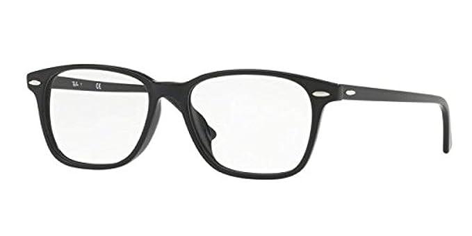 bc9995d6ab Ray-Ban 0rx7119f No Polarization Rectangular Prescription Eyewear Frame  Black 55 mm