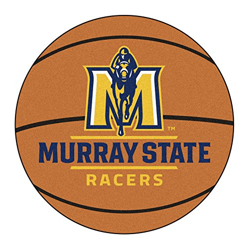 NCAA Murray State University Racers Basketball Shaped Mat Area Rug ()