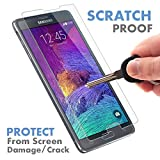 verizon iphone 4 front camera - ⚡[ PREMIUM QUALITY ] Samsung Galaxy Note 4 Tempered Glass Screen Protector - Shield, Guard & Protect Phone From Crash & Scratch - Anti Fingerprint, Smudge & Shatter Proof - Best Lcd Display Protection