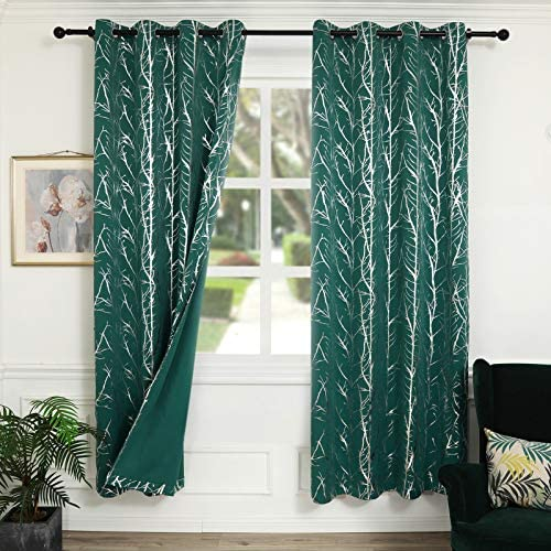 Reepow Tree Room Darkening Blackout Curtains 96 inches Long - the best window curtain panel for the money