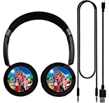 Lazy-Town Bluetooth Wireless Powerful Bass Stereo Volume Control Adjustable Comfortable Headset-Black