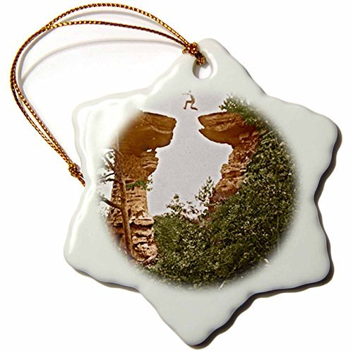 Ornaments to Paint 21679_1 Vintage 1899 Wisconsin Dells Stand Rock-Snowflake Ornament, Porcelain, 3-Inch