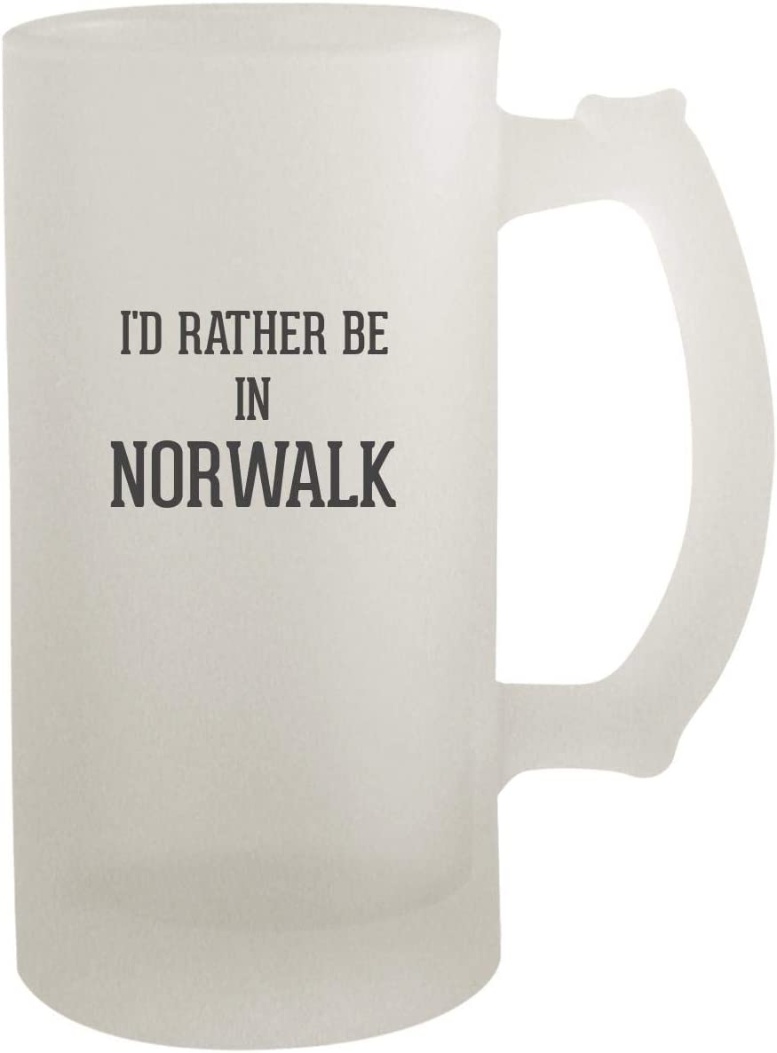 I'd Rather Be In NORWALK - Frosted Glass 16oz Beer Stein