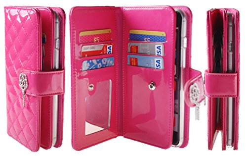 iphone-6-47-iphone-6s-plus-diamond-quilt-case-6-card-slot-wristlet-pu-leather-tpu-bumper-clutch-case