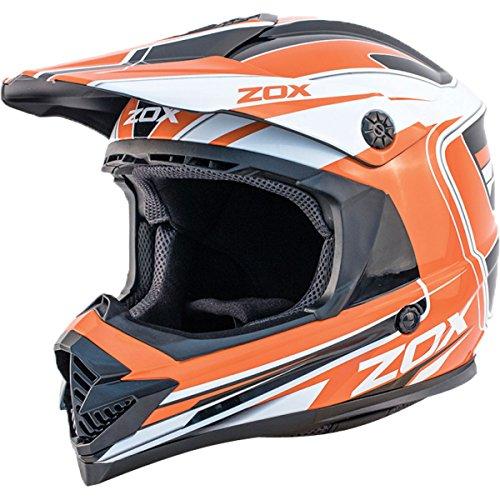 Zox Rush Lucid Youth Boys Off-Road Motorcycle Helmet - Orange/Medium