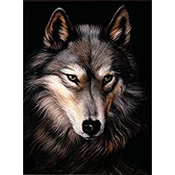 LONE WOLF 3D UNFRAMED Holographic Wall Art--Lenticular Technology Causes The Artwork To Have Depth and Move-HOLOGRAM Style Images-HOLOGRAPHIC Optical Illusions By THOSE FLIPPING PICTURES