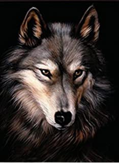 lone wolf 3d unframed holographic wall art lenticular technology causes the artwork to have