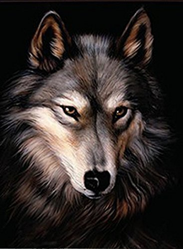 LONE WOLF 3D UNFRAMED Holographic Wall Art-