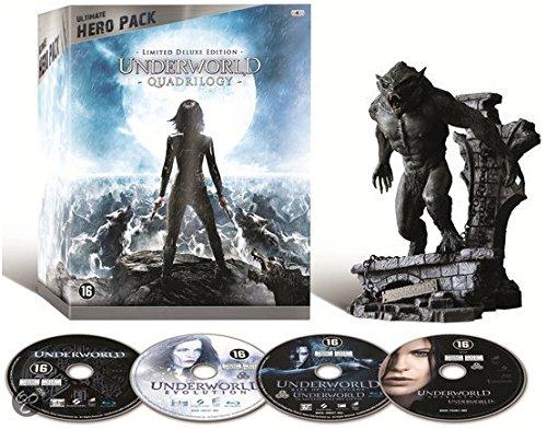 Underworld Quadrilogy (Ultimate Hero Pack) - 4-Disc Box Set & Lycan Figurine ( Underworld / Underworld: Evolution / Underworld: Rise of the Lycans / Underwo [ Blu-Ray, Reg.A/B/C Import - Netherlands ]