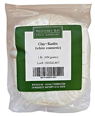 KAOLIN CLAY White Cosmetic NATURAL POWDER Facial Masks Spot Treatments 1 lb from Monterey Bay Spice Company