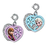 CHARM IT! Disney FROZEN Elsa & Anna 2 Part Heart Charms - 2 Charm Set