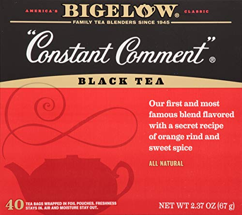 Bigelow Constant Comment Tea 40 Bags (Pack of 6) Caffeinated Individual Black Tea Bags, for Hot Tea or Iced Tea, Drink Plain or Sweetened with Honey or Sugar ()