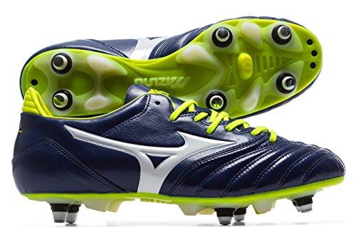 Mizuno Morelia Neo Kl Mix, Zapatillas de Fútbol para Hombre Multicolor (Blueprint/white/safetyyellow)