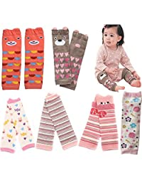 Lucky staryuan Prime Day 6-pack Baby & Toddler Leg Warmers Baby Gifts