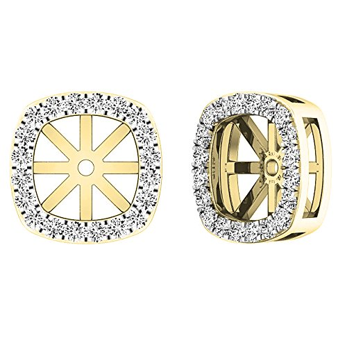 (Dazzlingrock Collection 0.30 Carat (ctw) 10K Round Diamond Removable Jackets For Stud Earrings 1/3 CT, Yellow Gold)