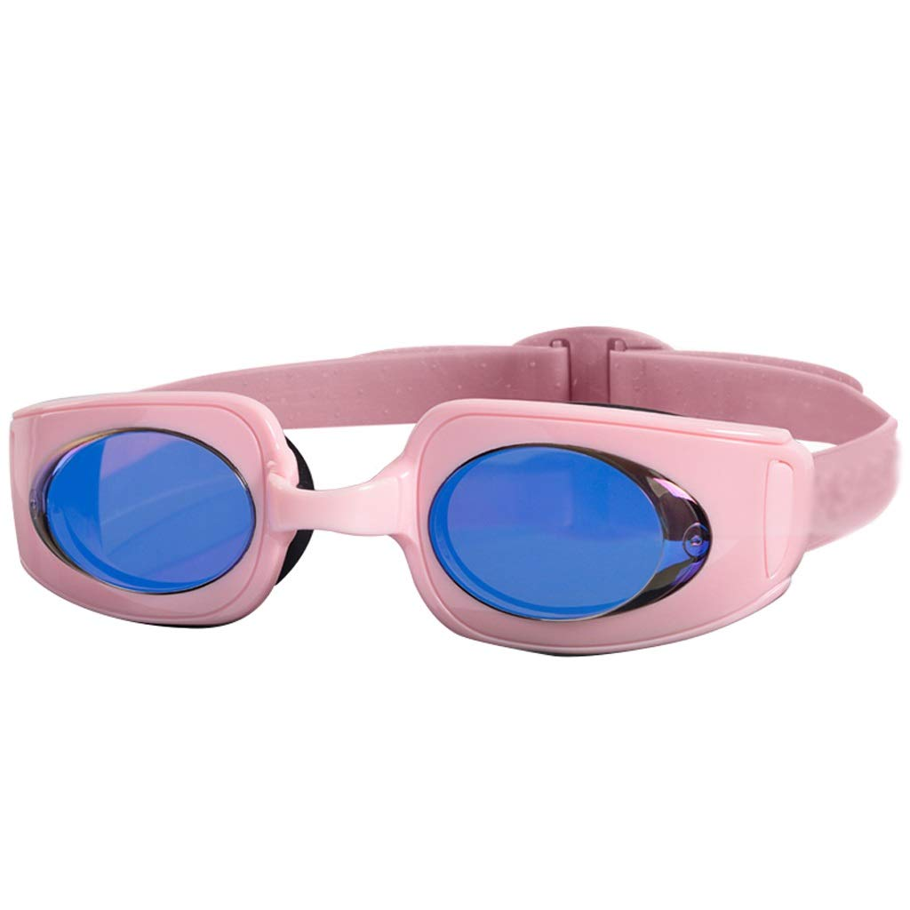 Pink WZHGLASSES Flat Swimming Goggles Waterproof Anti-fog HD Swimming Goggles For Men And Women For Vacation Swimming Beach Surfing Multi-color