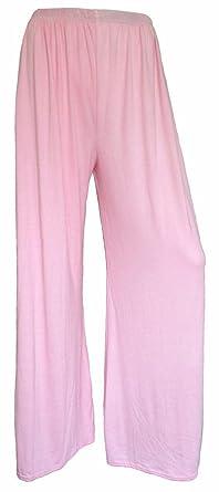 8b497f3edddd LAVISHCO Women Palazzo Plain Flared Wide Leg Pants Legging Baggy Trousers