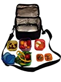 Trained Sports 7 Piece PORTION CONTROL CONTAINERS Kit with COMPLETE GUIDE eBook Delivered By Email, Multi-Colored Coded System, 100% Leak Proof, Free Hot and Cold Carry Storage Bag.