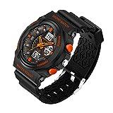M400 Polar Band Best Deals - Delight eShop Waterproof Digital LCD Stopwatch Date Military Rubber Mens Sport wrist Watch (Orange)
