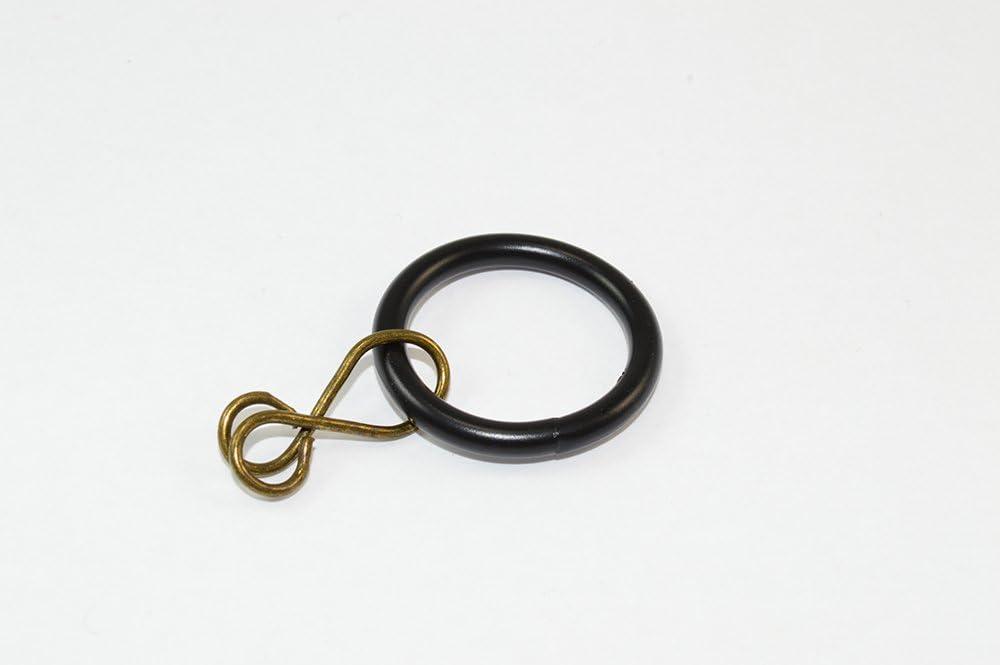 POLE-Tenda ROD LOOSE EYE diametro 26 mm confezione da 24 colore: nero 20 mm ID metallo