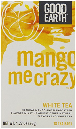 Good Earth Mango Me Crazy White Tea, 18 Count Tea Bags (Pack of 6) - Good Earth Grocery