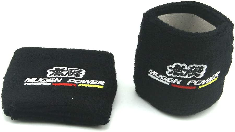 COOLNEIL New Mugen JDM Style Reservoir Brake Clutch Oil Tank Cap Socks Universal for All Cars Black