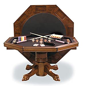 54″ Combination 3-in-1 Game/Dining Table in Chestnut finish
