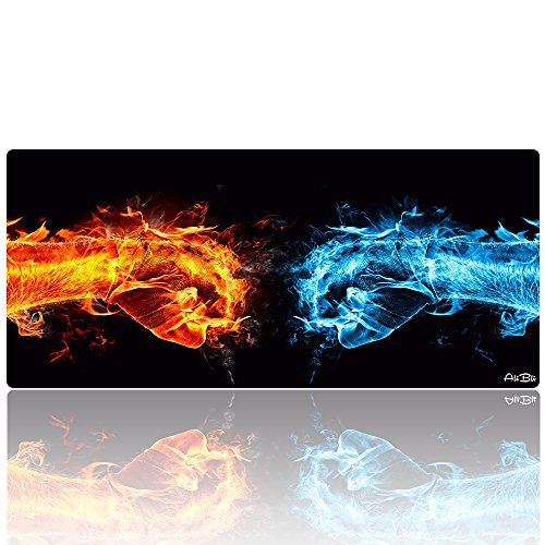 "5179m7Lh 3L - AliBli Large Gaming Mouse Pad xxl Extended Mat Desk Pad Mousepad long Non-Slip Rubber Mice Pads Stitched Edges 35.4""x15.7"""