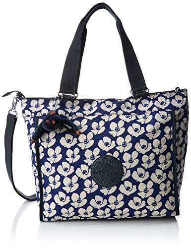 Kipling New Shopper L, Bolso Bandolera para Mujer, Gris, 15x24x45 cm (W x H x L) Multicolor (Bold Flower)