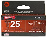 Arrow Fastener 257M Genuine 7/16-Inch T25 Staples, 1,000-Pack