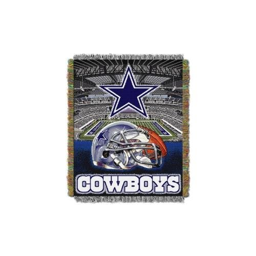 The Northwest Company Dallas Cowboys NFL Woven Tapestry Throw (Home Field Advantage) (48x60) (2-Pack)