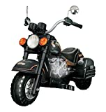 Vroom Rider Harley Style Chopper Limited Edition Motorcycle Ride On, Black