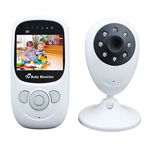 Per Wireless Video Baby Monitor Digital LCD Screen Night Vision Camera with Two-Way Talk Audio Temperature Monitoring Lullabies&High Capacity Battery Per