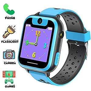 Niños Inteligente Relojes, Juegos de Pantalla táctil wach Sim Pantalla táctil Actividad de Chat de Voz de Llamada SOS para niños Escolares de 3 a 14 ...